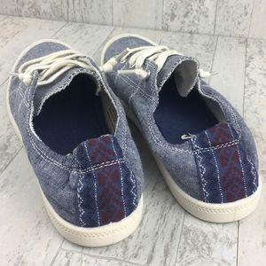 MadLove Denim Slide On Sneakers Size 8